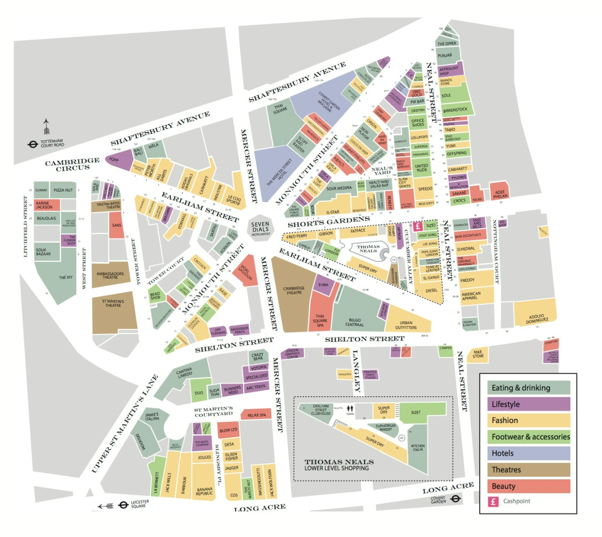 Map of Seven Dials